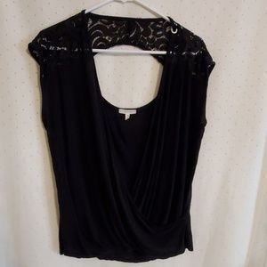 Maurices | Black Lace Wrap Top